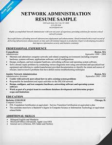 Network Administrator Resume Objective Network Administration Resume Example Resumecompanion