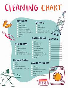 Cleaning Chart Checklist Our House Cleaning Schedule And Printable Checklist