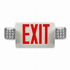 Location Exit Light Combo Mini Red Led Exit Sign Emergency Combo With Directional Lights