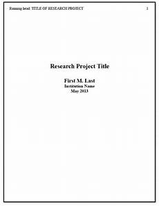 Apa Format Cover Page For Research Paper Research Paper Cover Page Format Apa Apa Title Page