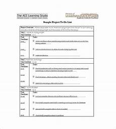 Sample Of To Do List Template To Do List Template 12 Free Sample Example Format