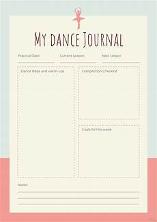 Journal Template For Word Free Dance Journal Template In Adobe Photoshop
