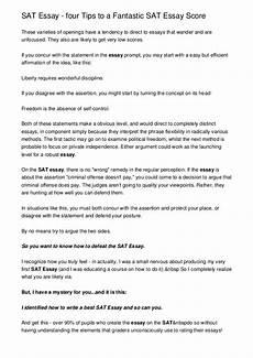 Essay Examples For Sat Sat Essay Four Tips To A Fantastic Sat Essay Score