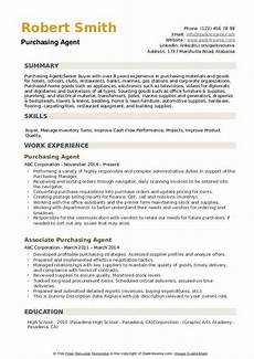 Purchase Agent Resume Purchasing Agent Resume Samples Qwikresume