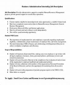 Masters Of Business Administration Jobs Free 10 Sample Business Administration Job Descriptions