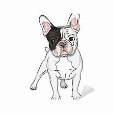 vector sketch domestic bulldog breed sticker
