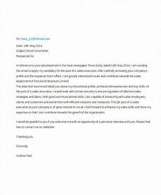 Cover Letter Email Template 46 Cover Letter Samples Free Amp Premium Templates