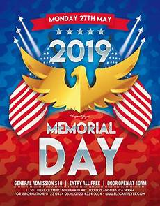 Memorial Day Flyer Memorial Day 2019 Free Party Flyer Template Freebie