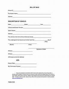 Bill Of Sale Example Free Printable Car Bill Of Sale Form Generic