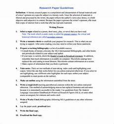 Research Paper Format Template 8 Research Paper Outline Templates Doc Excel Pdf