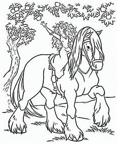 ausmalbild prinzessin pferd