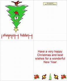 Printable Christmas Card Templates Making Printable Christmas Cards 123ict 123ict