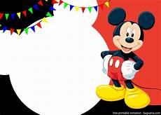 Mickey Mouse Birthday Invites Free Printable Cute Mickey Mouse Invitation Templates
