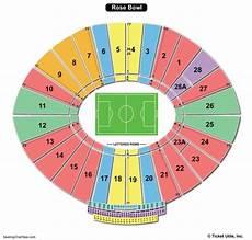 Rose Bowl Soccer Seating Chart Rose Bowl Stadium Seating Chart Seating Charts Amp Tickets