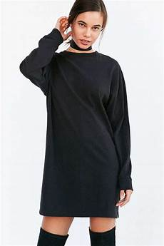 oversized sleeve tshirt bdg maeby oversized sleeve t shirt dress in black lyst