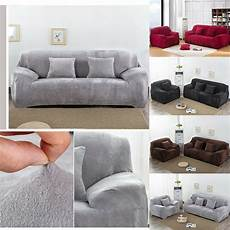 Velvet Sofa Cover 3d Image by Easy Fit Colorful Thick Plush Velvet Cover Stretch