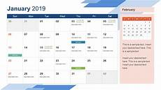 Dsny 2019 Chart Calendar 2019 Calendar Powerpoint Template Slidemodel