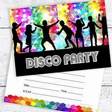 Disco Party Invitations Disco Party Invitations Kids Birthday Invites A6