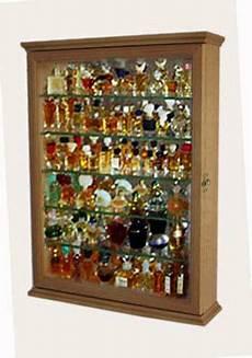 miniature perfume bottle display cabinet oak ebay