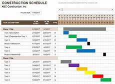Residential Construction Scheduling Construction Schedule Template