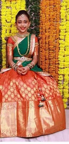 Children Saree Design Half Saree Kids In Indian Wear Pinterest Half