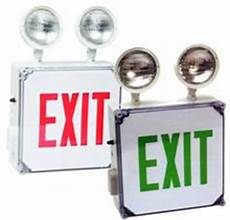 Location Exit Light Combo Location Led Exit Sign Emergency Light Combo Unit