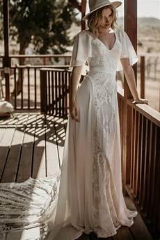 hayley bohemian wedding dress dreamers and