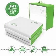 tri fold folding mattress w storage carry 75 quot x 25