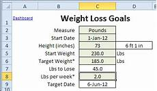 Weight Loss Tracker Excel Updated Excel Weight Loss Tracker Contextures Blog