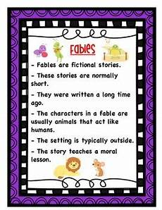 Fable Anchor Chart 2nd Grade Fable Anchor Chart By Elementary My Dear Watson Tpt