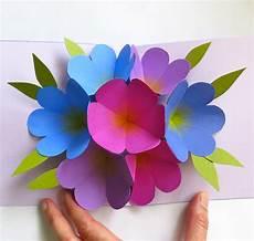 pop up card template flowers mmmcrafts made it ms pop up flower card