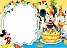 Mickey Mouse Party Invitations Free Free Cute Mickey Mouse Cake Invitation Template Free