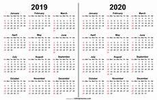 Print Online Calendar 2020 2019 2020 Calendar