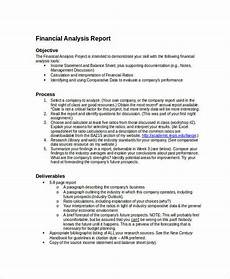 financial analysis example free 20 financial report examples in pdf word pages