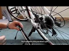 Bicycle Wheel Lights Youtube Yq8003 Bicycle Wheel Light Installation Tutorial Youtube