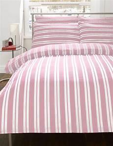 pink white stripe flannelette bedding duvet