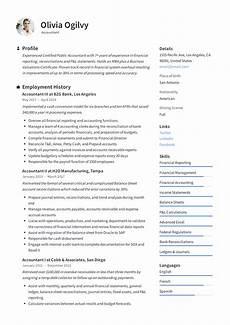 Accountant Resume Sample Accountant Resume Amp Writing Guide 12 Resume Templates Pdf