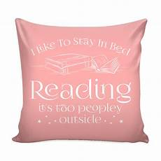 i like to stay in bed reading it s peopley outside