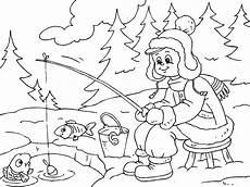 Kostenlose Malvorlagen Winterlandschaft Winterlandschaft Malvorlage Kinderbilder