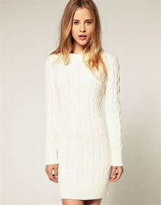 asos asos cable knit sweater dress at asos