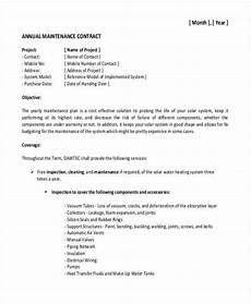 Maintenance Contract Sample 19 Maintenance Contract Templates Pages Word Docs