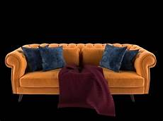 Air Sofa Yellow Blue 3d Image by 3d Tufted Sofa Yellow Cgtrader