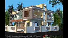 40x40 ft 2 story house plan with different 3d elevations