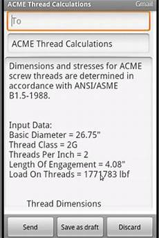 Acme Hitch Application Chart Acme Thread Calculation Android Apps On Google Play