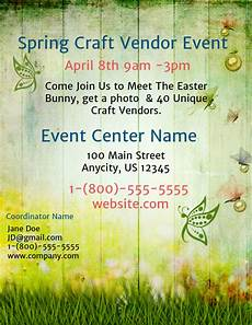 Spring Event Flyer Template Spring Craft Vendor Event Template Postermywall