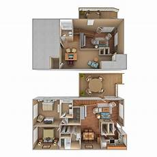 two bedroom townhome with loft carol woods