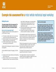 Fillable Online Hse Gov Example Risk Assessment For A
