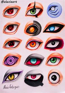 Naruto Eye Chart Naruto Eyes Ii By Alexiarodrigues On Deviantart