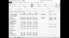 Forecast Income Statement Fin 587 Income Statement Forecast Youtube