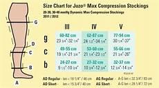 Varicose Vein Size Chart Juzo Dynamic Varin Max 20 30 Mmhg Open Toe Thigh High Firm